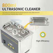 Ultrasonic Jewelry Cleaner Machine With Digital Timer 800ml For Glasses Watches