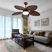 Ceiling Fan With 5 Bronze Blades, Farmhouse Ceiling Fan For Living Room Remote