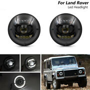 [e-mark] Ece Lhd 7''inch Led Headlight Halo Ring For Land Rover Defender 90/110