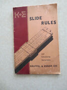 1944 K+e Slide Rules And Calculating Instruments Catalog Booklet - Keuffel And Esser
