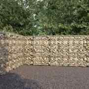 Vidaxl Gabion Wall With Covers Galvanized Steel Retaining Cage 236.2/354.3