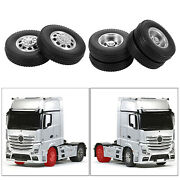 2x Rc Car 85mm Rubber Tyres Fit For Tamiya 1/14 Tractor Truck Accessories