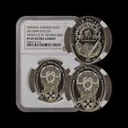 Niue. 2012 Dollar Silver - Ngc Pf69 - Faberge Eggs Order Of St. George