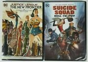 Suicide Squad Hell To Pay Justice League The New Frontier Dvd Lot Of 2 New