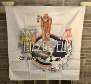 Vintage Large Early 1980's Led Zeppelin Silkscreen Tapestry 45x47 Inches.