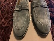 995 New Unique Di Bianco Scarpe Velour Shoes Size 12 Handcrafted In Italy