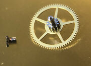 Nos Heuerbreitling Large Driving Wheel With Cannon Pinion 200/1 Cal 11121415