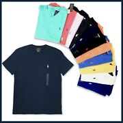 Polo Mens V Neck Classic Fit T-shirt Short Sleeve New Authentic