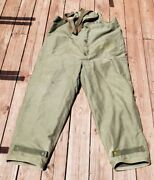 Original Wwii Us Navy Cold Weather Insulated Deck Pants   Size X Large