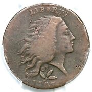 1793 S-6 R-3 Pcgs F Details Vine And Bars Edge Wreath Large Cent Coin 1c