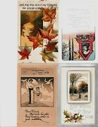 Happy New Years Postcards Vintage 1910's Lot Of 4