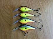 4 Rapala Dt Thug Crankbaits, Lot Of 4 Discontinued Fishing Lures