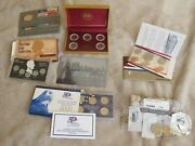 Coin Lot Proof And Uncirculated Sets, 1943 War Pennies, 1974, 1984, 2004, 2007