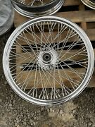 American Wire Wheel 21andrdquo 80 Spoke Front Wheel For Andlsquo84-andlsquo99 Harley Davidson