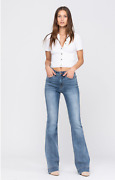 Judy Blue Mid -rise Trouser Flare Jeans