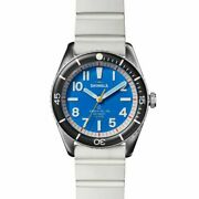 New Shinola The Duck 42mm Blue Dial Alabaster Rubber Strap S0120218979