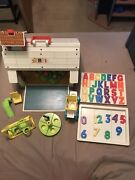 Vintage Fisher Price Little People Play Family School House