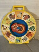 1983 Mattel See N Say And The Farmer Says Animal Sounds Vintage Toy Yellow Works