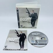 James Bond 007 Quantum Of Solace Nintendo Wii Video Game Complete Cib Tested