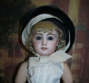 Vintage Velvet Hat With Ribbon Tie For Jumeau And Other Antique Dolls