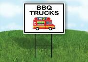 Bbq Trucks Black Border Yard Sign Road With Stand Lawn Sign