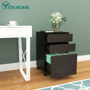 Yitahome 3-drawer Rolling File Cabinet Wood Document Storage Organizer Office