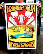 Vintage Hippy Poster 1970and039s Keep On Truckin Original Nos