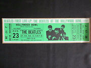 1964 Beatles Live At The Hollywood Bowl Bumper Sticker Style Illustrated Ticket