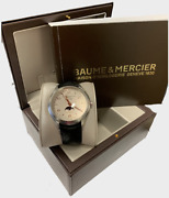 Baume And Mercier Mens Watch With Moon Face And Month And Date Pre Owned Ww382