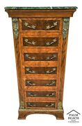 French Louis Xv Marble Top Lingerie Press Dresser With Gilt Ormolu Mounts