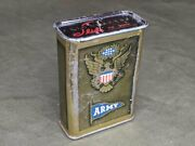 Vintage Wwii 1940s Us Army Cigarette Tin Eagle American Flag Homefront Empty