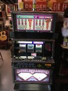 Igt Slot Machine Famous Double Diamond Works Great 2003 Year. 25 Cent.