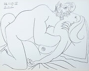 Le Vent Dand039arles 26.11.69.iv By Pablo Picasso Plate Signed Lithograph