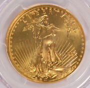 Pcgs 50 1992 1 Ounce American Gold Eagle Tilted Partial Collar Ms69