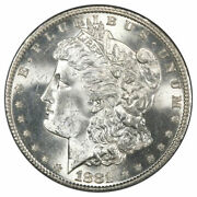 1881 S Morgan Silver Dollar Bu Uncirculated Ms White - From Roll