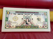 David Bradley Lucky Casino Dollar Lithograph Hand Signed And Numbered 26/30