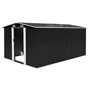 Vidaxl Garden Shed Metal Anthracite Outdoor Tool Storage House Multi Sizes