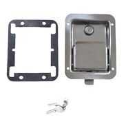 Marine/yacht/rv Stainless Steel Paddle Lock Latch And Key For Tool Box Door