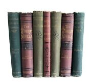Lot Of 7 Antique Victorian Books Home Office Library Farmhouse Decor Dickens +