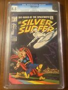 Silver Surfer 4 2/69 Cgc 8.5 White Pages Low Run Thor Crossover High Grade Key