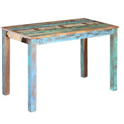 Vidaxl Dining Table Solid Reclaimed Wood Dining Room Kitchen Home 31.5/45.3