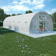 Vidaxl Greenhouse With Steel Foundation 290,6 Ft² Cold Frame Plant Tent Garden