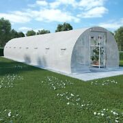 Vidaxl Greenhouse With Steel Foundation 387,5 Ft² Cold Frame Plant Tent Garden