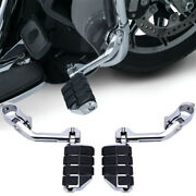 Chrome Long Highway Foot Pegs Fits For Harley Road King Street Glide 1-1/4 Bars