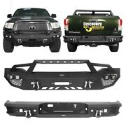 Front+rear Step Bumper Bars Combo Assembly W/winch Plate Fit Toyota Tundra 07-13