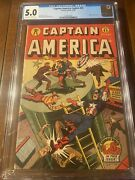 Captain America 43 12/44 Timely Cgc 5.0 Oww Pages Shores Cover - Nice