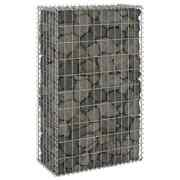 Vidaxl Gabion Wall With Covers Galvanized Steel Cage Basket Fence Multi Sizes