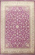 Floral Traditional Oriental Area Rug Wool Hand-knotted 9and039x12and039 Dining Room Carpet