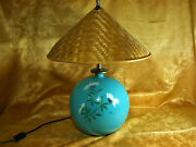 Mid Century Modern Ghinza Butterfly Table Lamp Turquoise Ultra Luxury Vintage