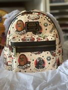 Rare Loungefly Star Wars Flash Tattoo Exclusive Mini Backpack Darth Vader Chewie